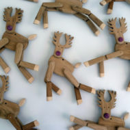 Reindeer Wallpaper - Wanda Sowry