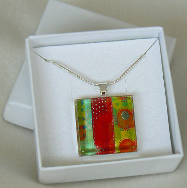 Red And Green Pendant - Sue Pickering