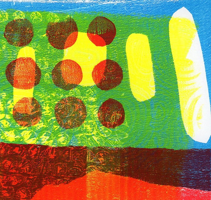 Green Abstract Print - Sue Pickering