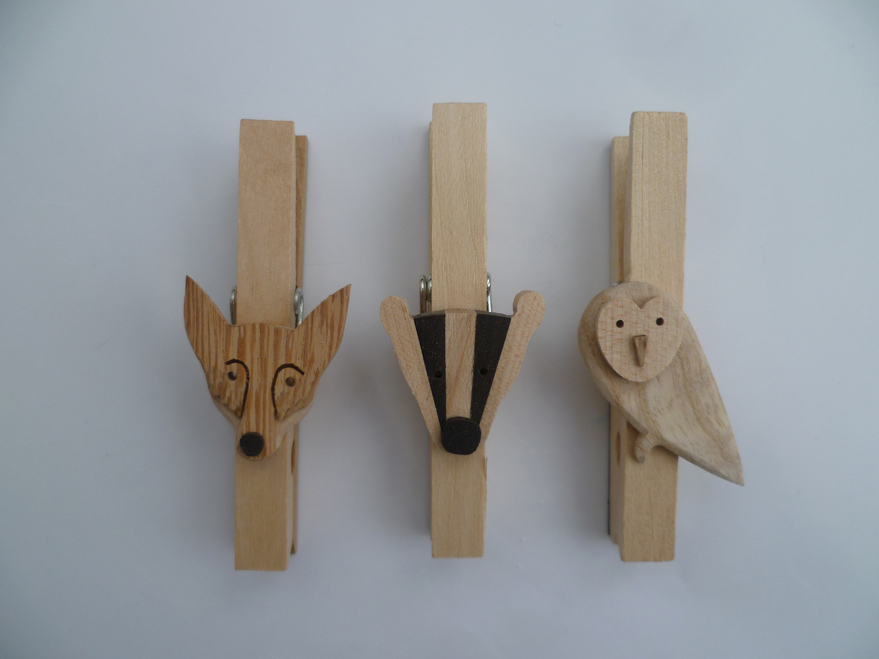 Fox, Badger, Owl Fridge Magnets - Wanda Sowry