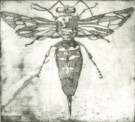 Wasp Etching - Rosie Mclay