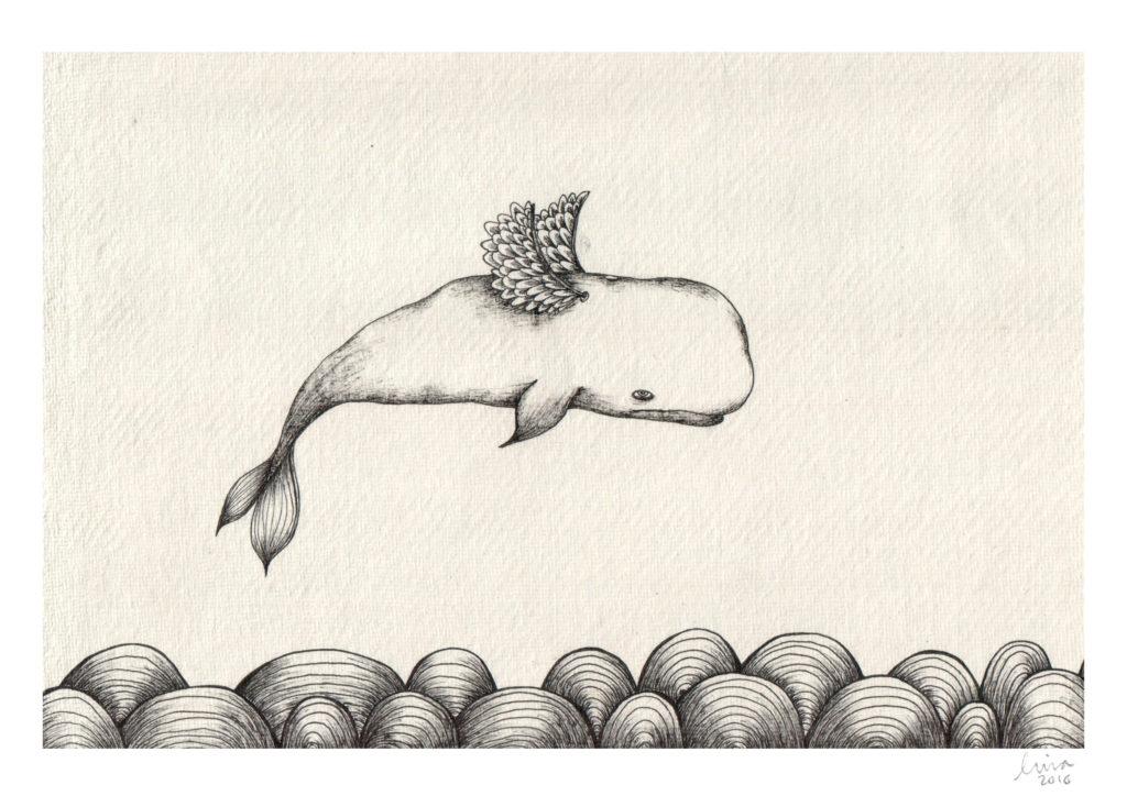 A4 whale lina lofstrand