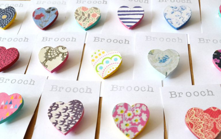 Heart Broaches - Emma Garland