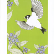 Goldfinch and hydrangea - The Knitted Pea