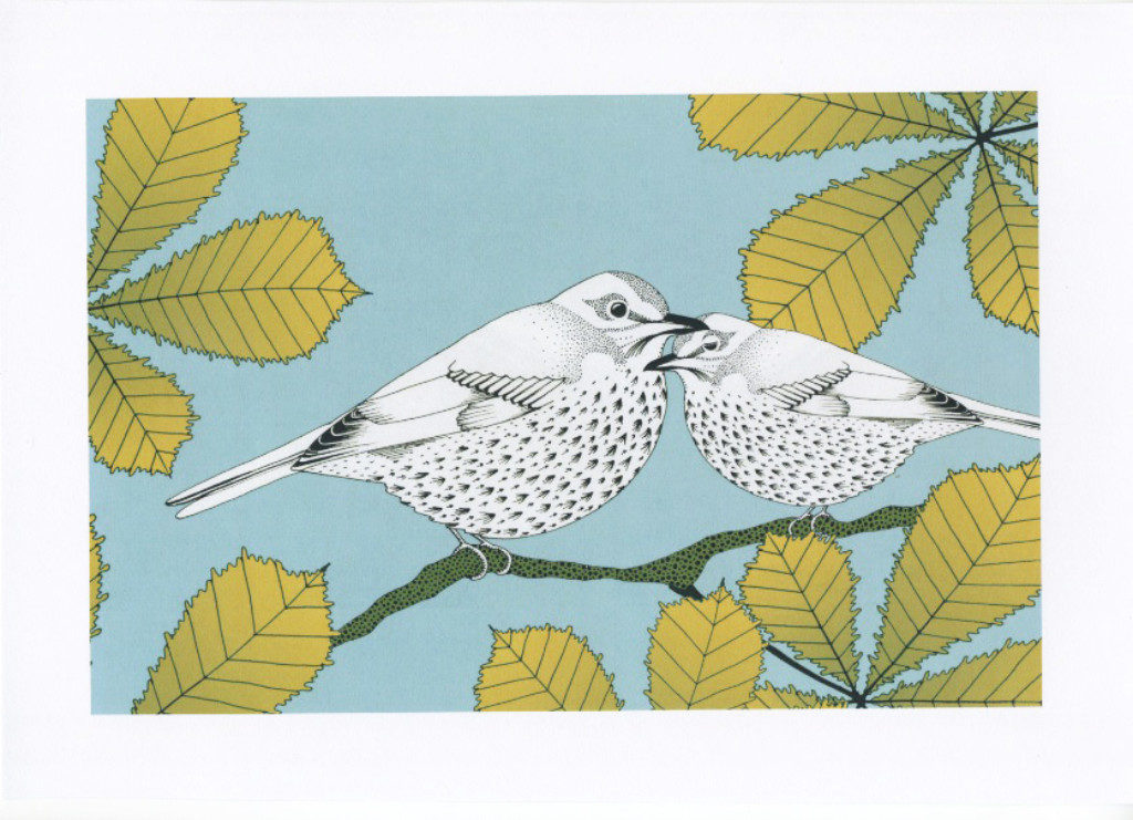 Songthrushes and chestnut - The Knitted Pea