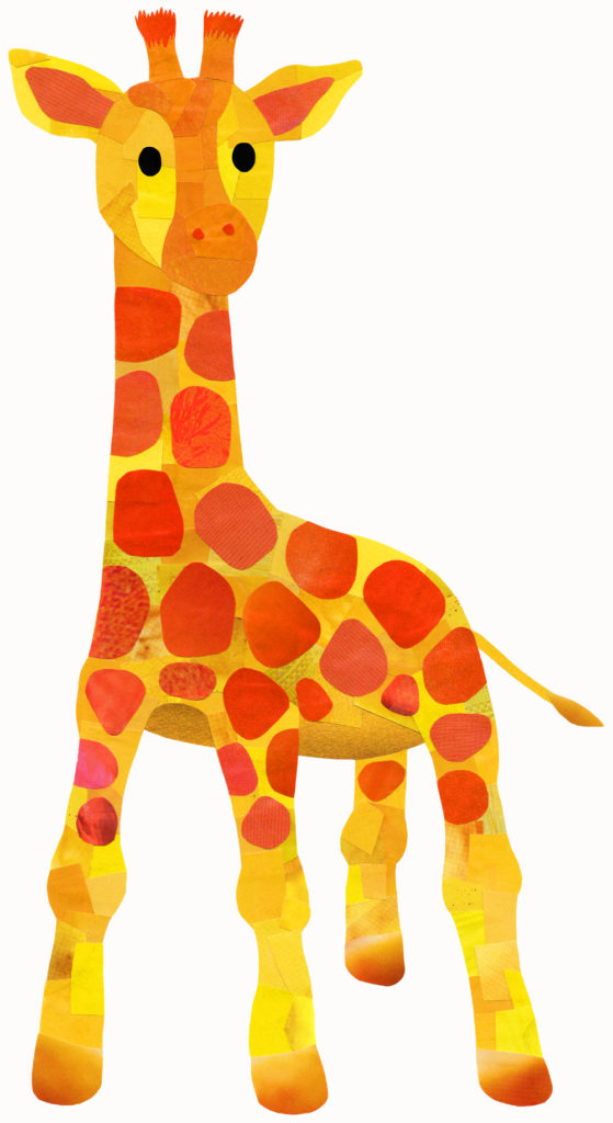Yellow and Orange Giraffe - Hollycollage