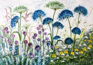 Agapanthus and Alliums - lynette bower