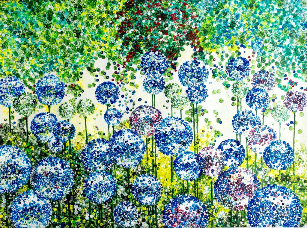 Blue alliums - lynette bower