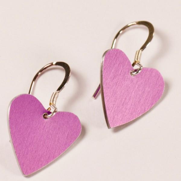 Cerise Heart Earrings - Anita Peach