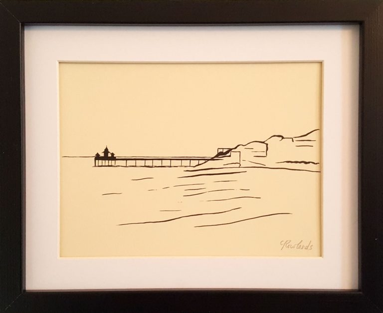 Clevedon Pier (Framed) - Charlotte Rowlands