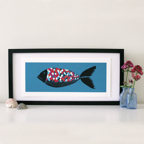 KaleidoFish - Made by Ilze print framed w