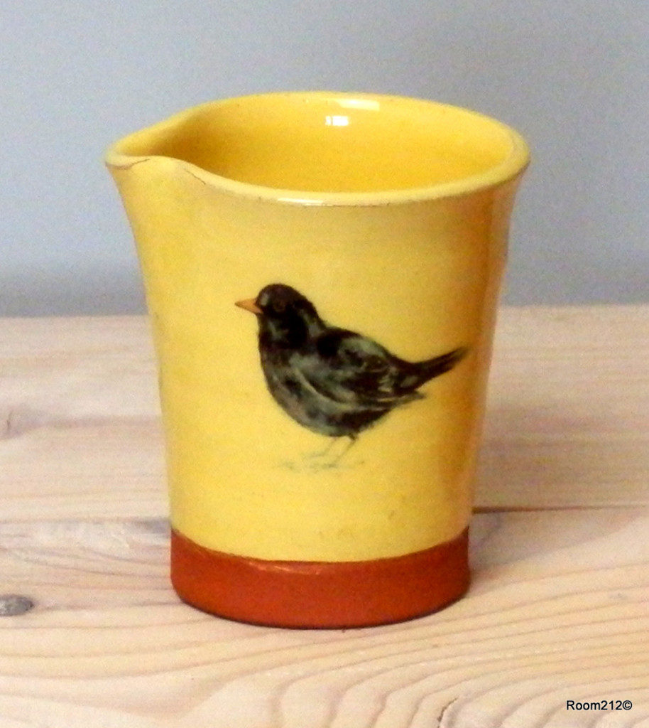 Baby Yellow Blackbird Jug - Jane Booth Cermics