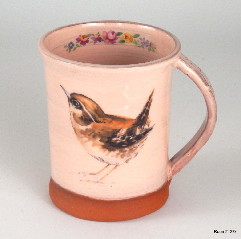 Pink Wren Mug - Jane Booth Ceramics