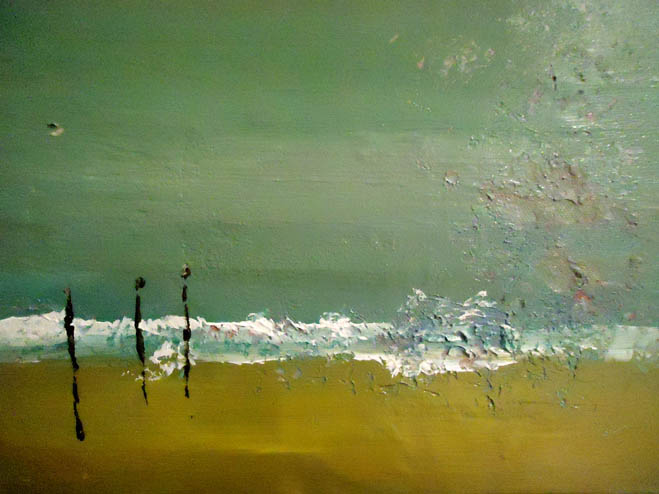 Beachdrift painting for ITV Broadchurch By Sarah Thorp