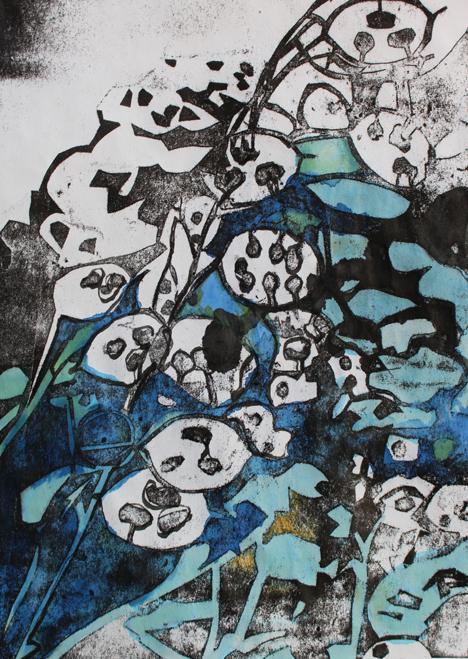Blue Abstract - Molly Lemon