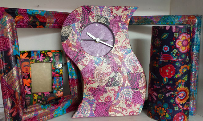 Decoupage Clock - Sarah Thorp