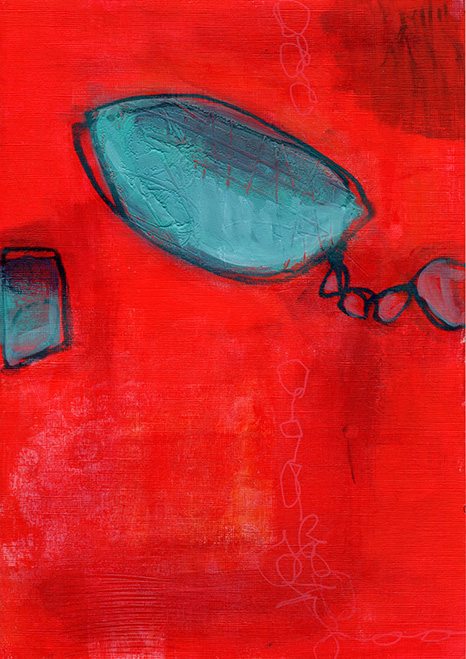 Red Abstract Print - Sue Pickering