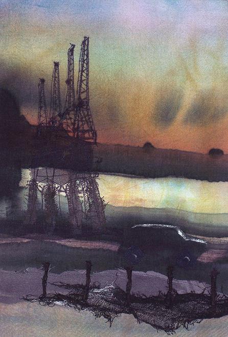 Princes Wharf, Harbourside, Textile, Collage - Su Williams