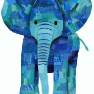 Blue Elephant - Hollycollage