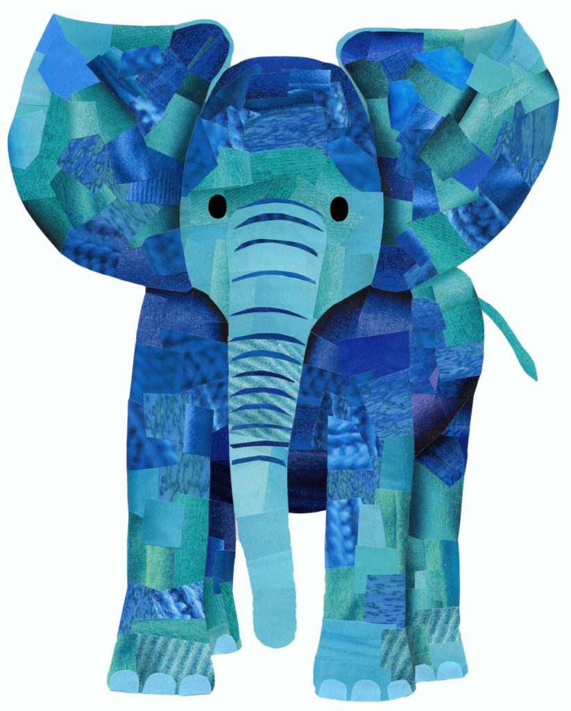 Blue Elephant - Hollycollage