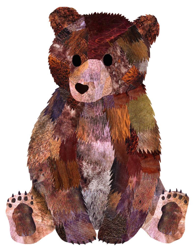 Brown Bear Cub - Hollycollage