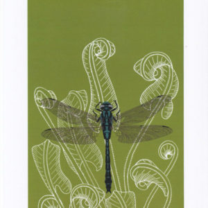 Dragonfly and fern - The Knitted Pea