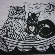 Owl and Pussy cat - Laura Robertson