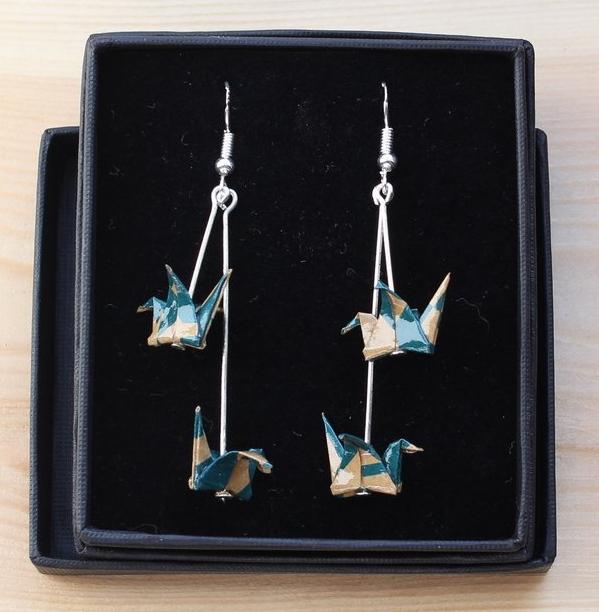 Long Origami earrings - Phipholle