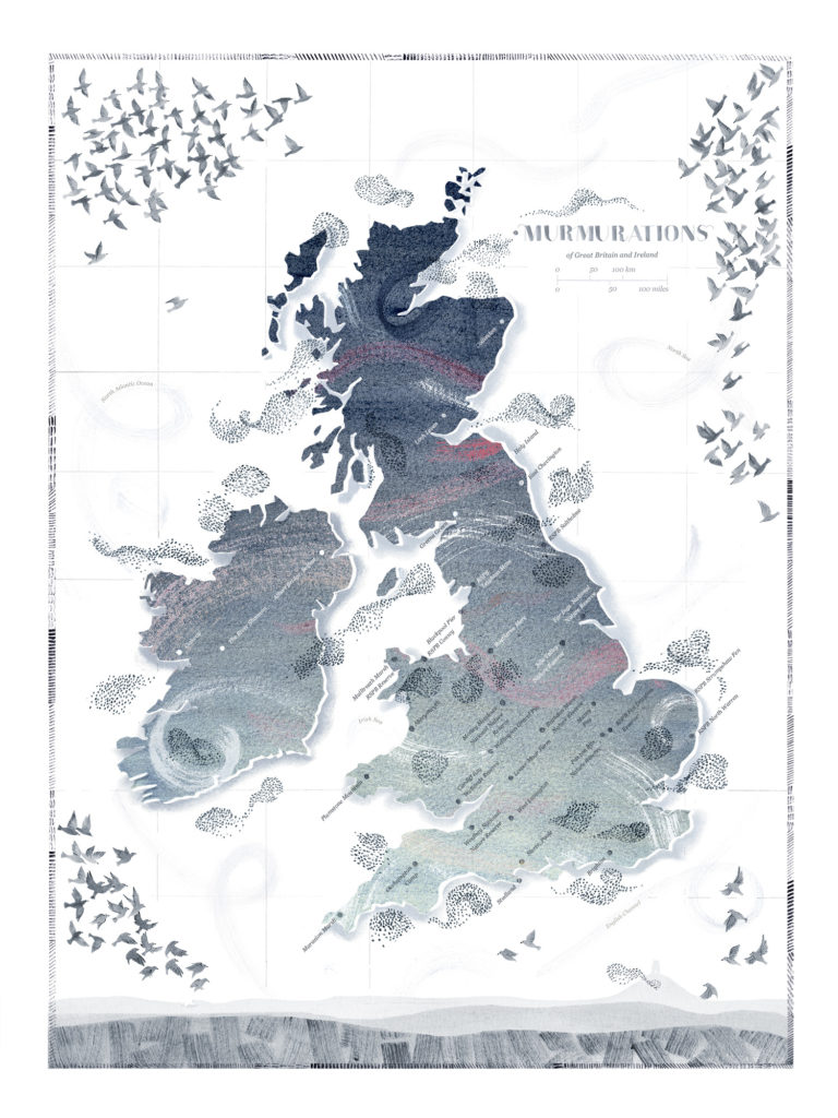 Murmuration Map - Hannah Bailey