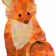 Orange Fox - Hollycollage