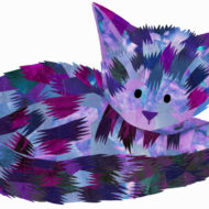 Purple Cat - Hollycollage