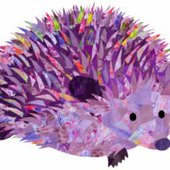 Purple Hedgehog - Hollycollage