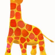 Yellow and Orange Giraffe - Hollycollage