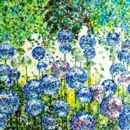 Blue alliums - lynette bower