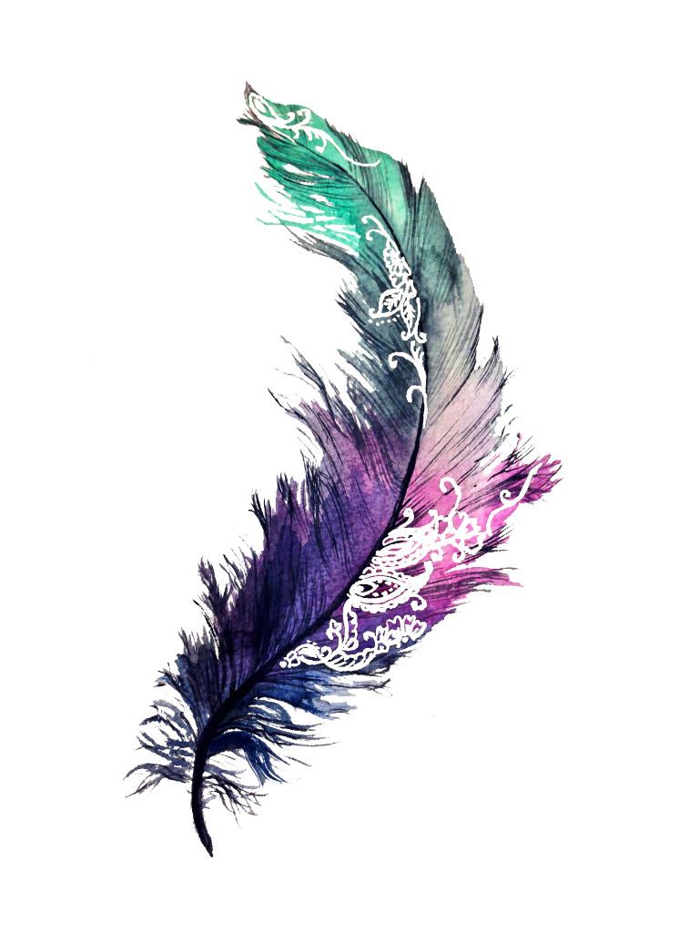 Henna Feather: Henna Feather Print