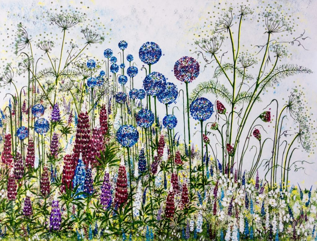 Lupins and alliums - lynette bower