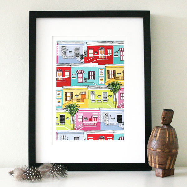 Bo Kaap Made by Ilze print insitu sml