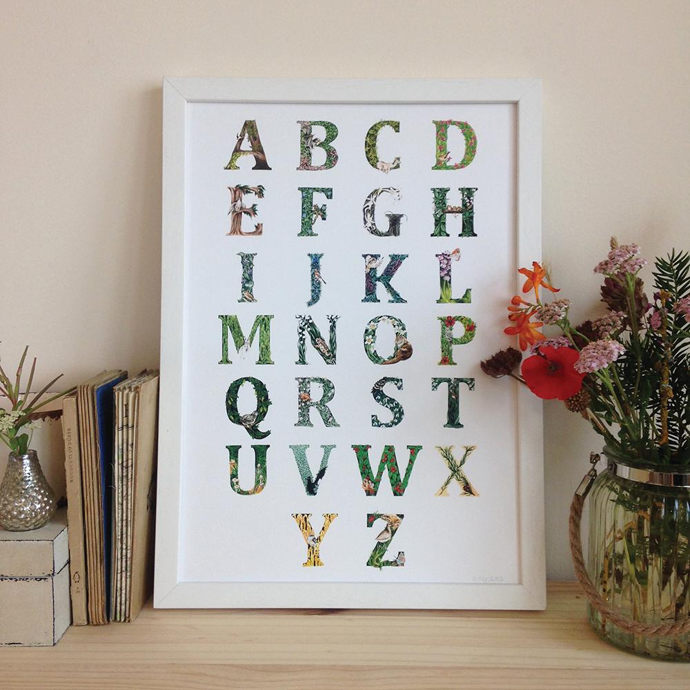 forest alphabet print - Katharina Nyilas