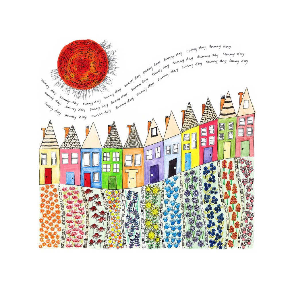 Sunny day terrace - Fiona Willis