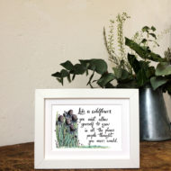 Like A Wildflower (Framed Print) - Sunshine For Breakfast
