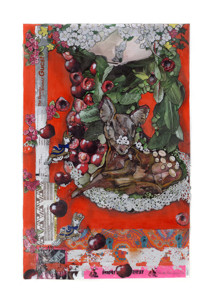 deer and cherries yolande henebery mkII