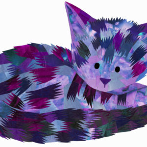 Purple Cat - Holly Collage