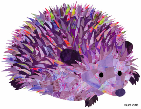Purple Hedgehog - Holly Collage