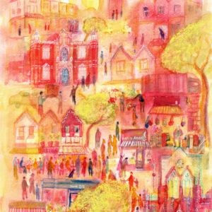 Gloucester Road Print - Emma Burleigh