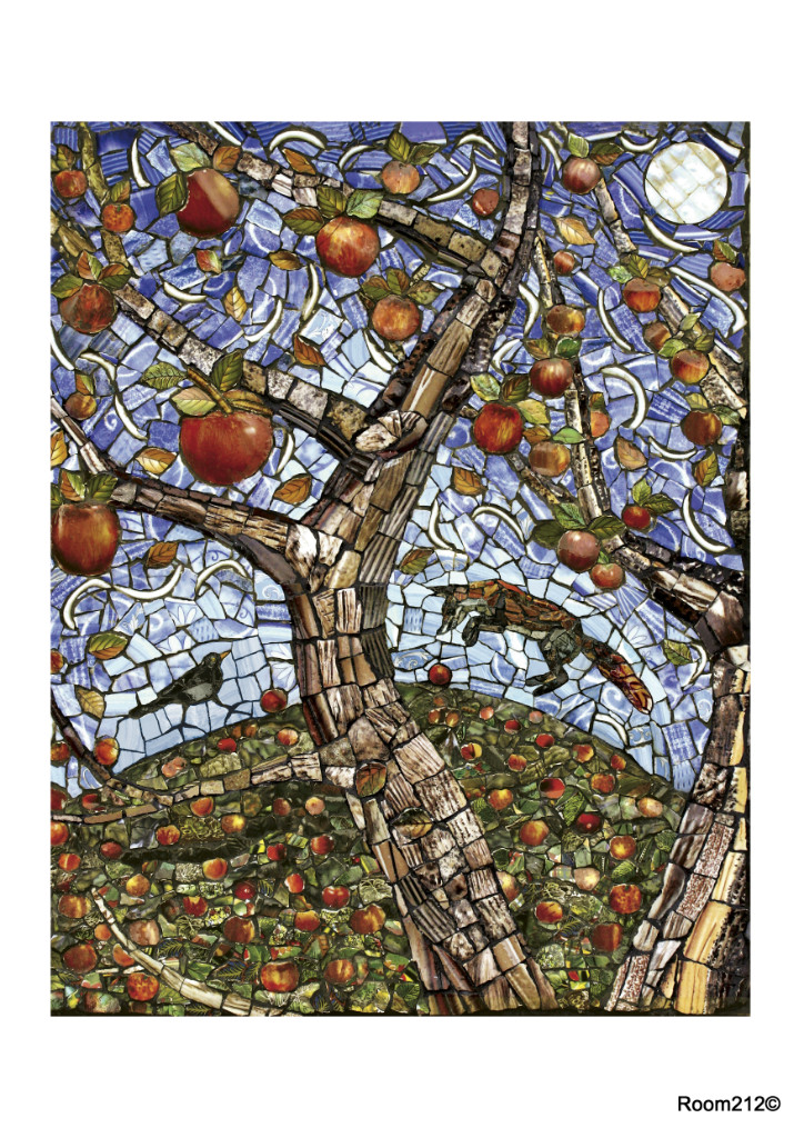 Last Apple, Fox Jumping Print - Toni Burrows